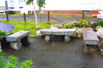 Granite benches and other hardscape designs